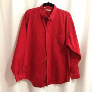 Bugle Boy Button Front Shirt Red Long Sleeves